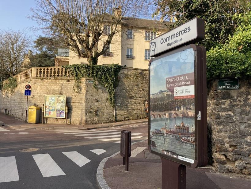 Campagne d'affichage vues de Saint-Cloud